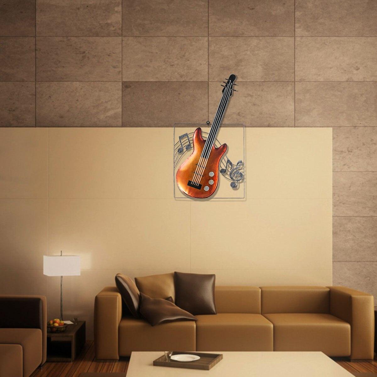 Tooarts Guitar Musical Elements Figurine Ornament Modern Metal Home ...