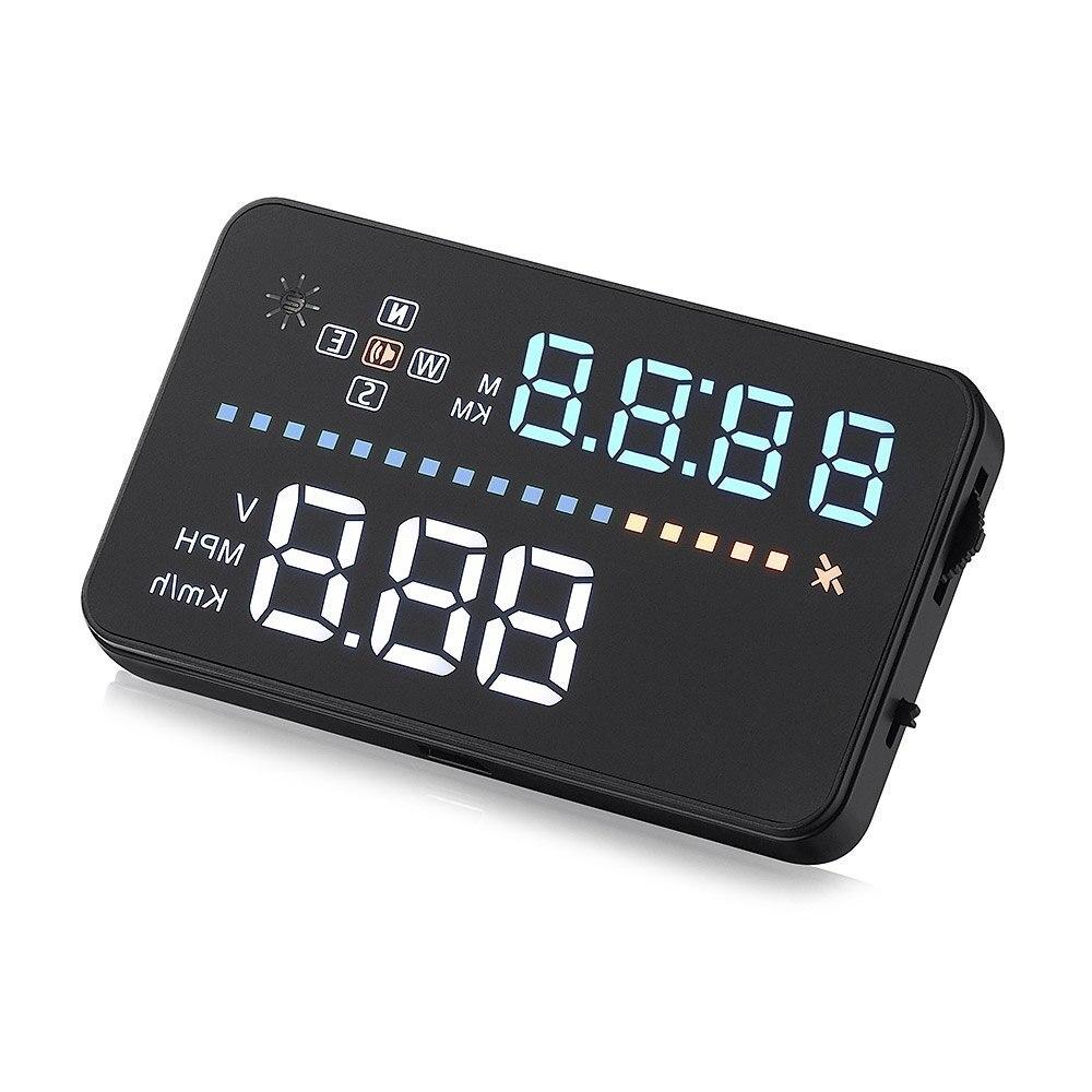 A3 Авто 3.5 дюймов Универсальный Авто HUD Дисплей превышения скорости предупреждение лобового стекла проекта сигнализации Системы OBD2 II Интерф...