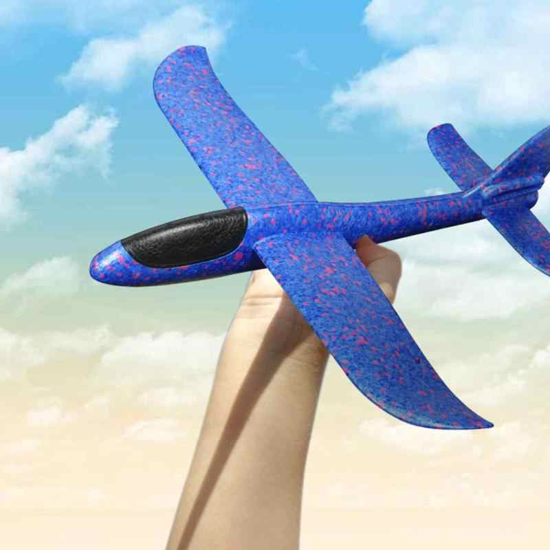 Besar 35 Cm Tangan Melemparkan Pesawat Terbang Glider Pesawat EPP Busa Model Pesawat Pesta Tas Pengisi Mainan Anak Outdoor Peluncuran permainan Mainan