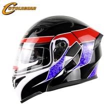 Горячая Продвижение Флип Мотоциклетный Шлем Двойной Линзы Casco Capacetes Moto Головные Уборы Cyclegear CG902