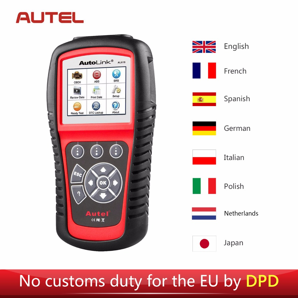Autel AL619 Car Diagnostic Tool Scanner OBD2 Auto Fault Code Reader Scanner SRS CAN ABS Airbag Automotive Diagnostic-Tool obd2 eobd diagnostics auto scanner automotive fault code reader diagnostic tool car detector automotive tool konnwei kw830