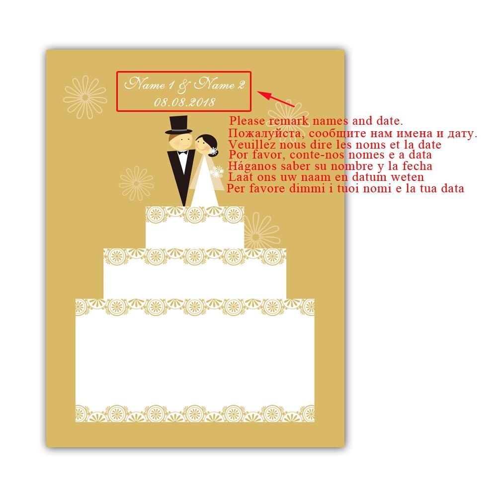 Personalize Wedding Decoration Gift Fingerprint Guestbook