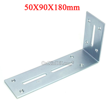 цена на High Quality 50PCS Right Angle Corner Braces L Shape Metal Frame Board Shelf Support Brackets Furniture Hardware 50X90X180mm