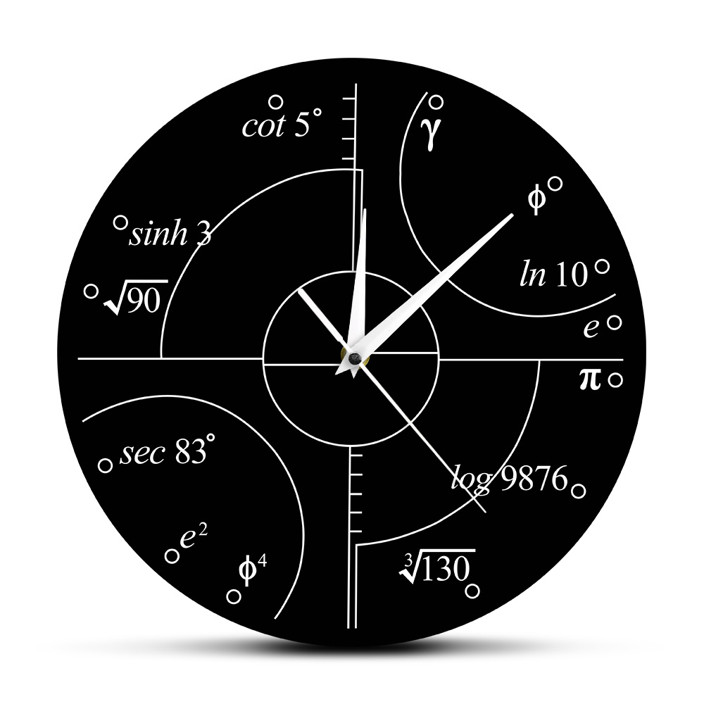 Advanced Math Irrational Numbers Wall Clock Science