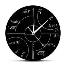 8576f47d3c5b Matemáticas avanzadas números irracionales Reloj de pared ciencia  matemática pared arte moderno reloj de pared reloj decoración .