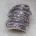 2016 Fashion Hot Size 11 Super Deal Princess Luxury Jewelry Simulated Diamond Wedding Women Ring for Christmas gifts Size 5-11