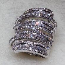 2016 Tamaño Caliente de La Manera 11 del Reparto Estupendo de La Princesa Mujeres Anillo de Bodas de Diamante Simulado Joyería de Lujo para los regalos de Navidad Tamaño 5-11