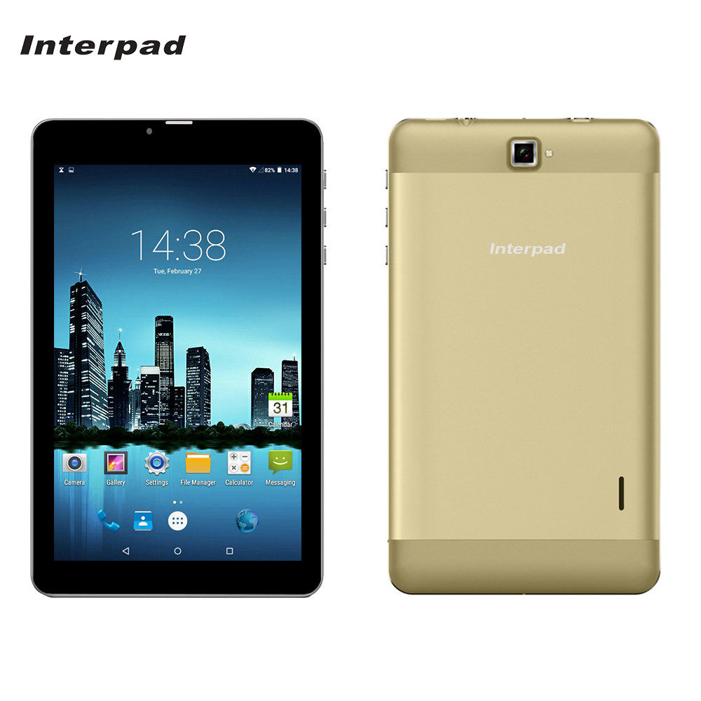 Interpad 7 inch Tablet pc Quad core IPS 1280*800 16GB ROM GPS WIFI 3G Phone Android tablets Dual SIM high performance tablet 10 hot irulu x6 3g phablet 7 android 7 0 slim tablet phone call quad core 1024x600 ips rom 16gb dual cam wireless fm gps 2800mah