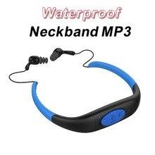 Regalo de navidad A Prueba de agua IPX8 4 GB Reproductor de Música MP3 Natación Correr Surf Bajo El Agua Deportes Banda Para El Cuello Mp3 con FM Radio de Auriculares