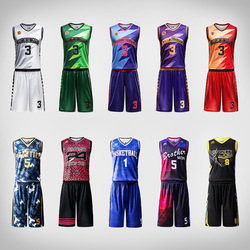 Professional design basketball uniforms quick dry breathable stitched shirt custom sublimation blank mens basketball jersey