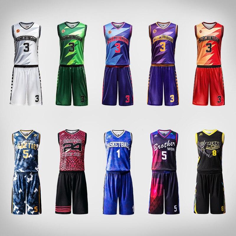 b7bd8200a01f1 Uniformes de basket ball de conception professionnelle chemise cousue  respirante à séchage rapide dans Basket-ball Ensemble de Sports et Loisirs  sur ...