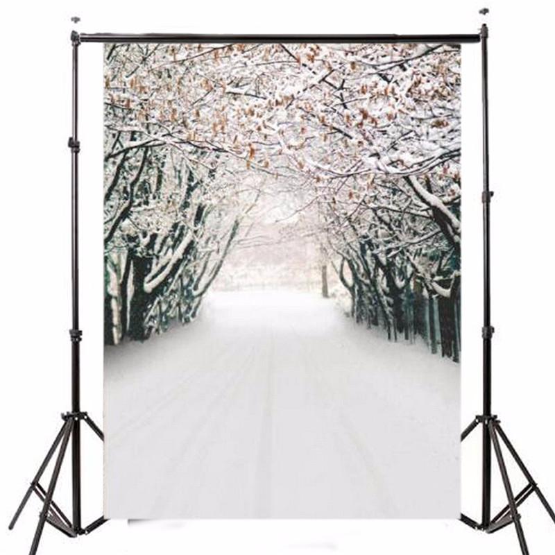 xft vinilo fotografa fondo de navidad tema de hielo nieve bosque telones de fondo para