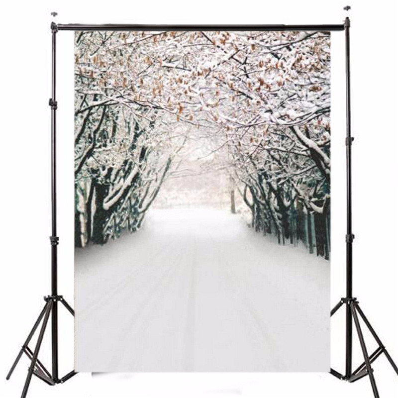 7x5FT Vinyl Photography Background Christmas Theme Ice Snow Forest Photographic Backdrops For Studio Photo Props 2.1m x 1.5m