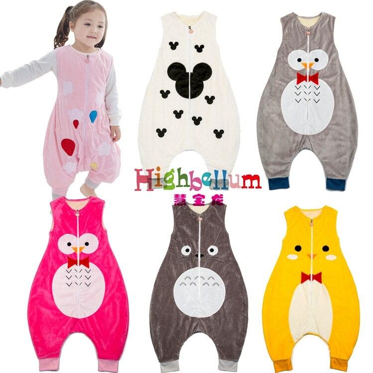 autumn baby sleeping bags 100% natural cotton baby Hignbellum baby sleep bag long-sleeve letter pattern children sleep rompers