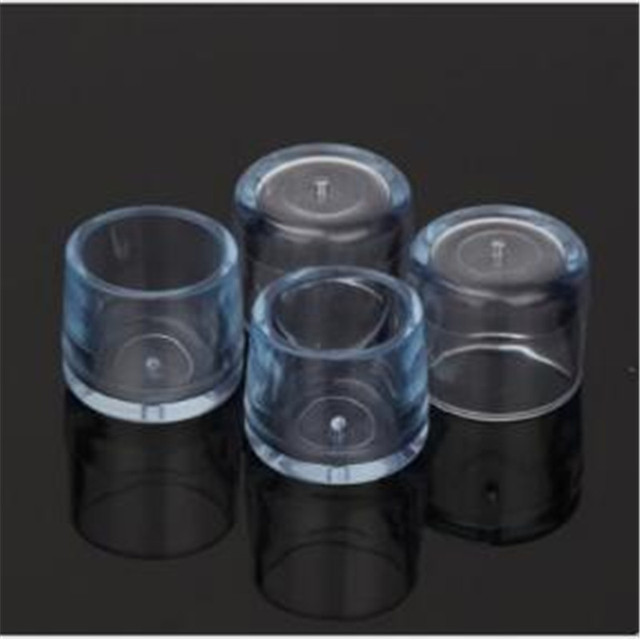 4 Sets Chair Legs Rubber Cover Clear Silica Plastic Rubber Floor Protectors  Plastic Caps For Chair