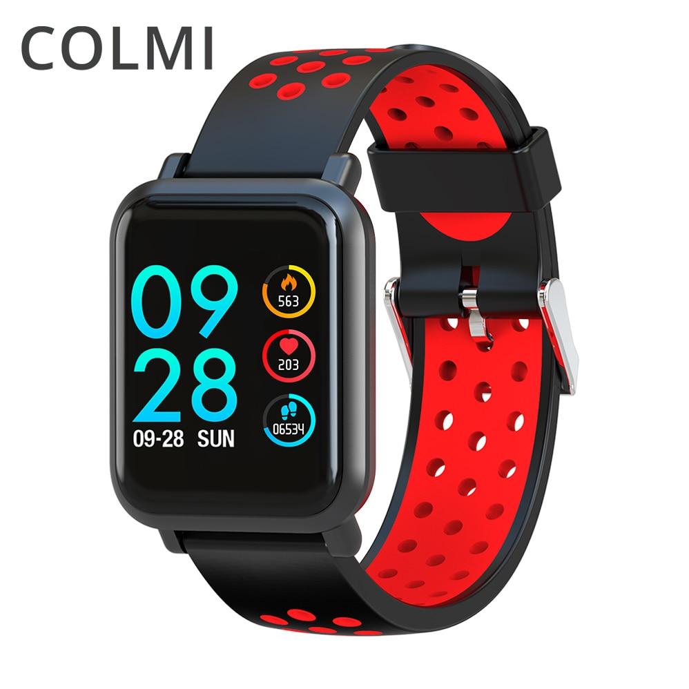 COLMI Freqüência Cardíaca Relógio Inteligente Tela OLED de Oxigênio No Sangue Pressão ABA IP68 Atividade Rastreador Para Android e IOS Telefone À Prova D' Água