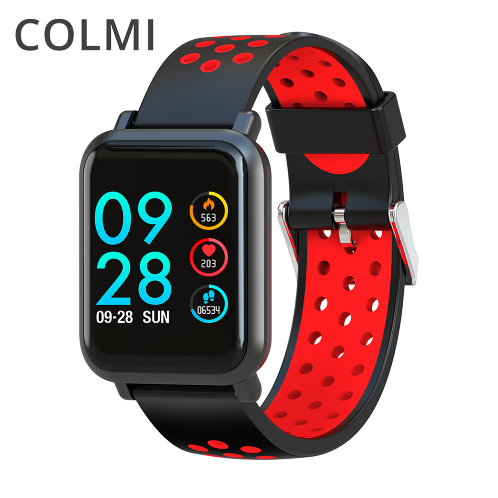 COLMI Smart Watch OLED Screen Heart Rate Blood Oxygen Pressure BRIM IP68 Waterproof Activity Tracker For Android and IOS Phone colmi v11 smart watch ip67 waterproof tempered glass activity fitness tracker heart rate monitor brim men women smartwatch