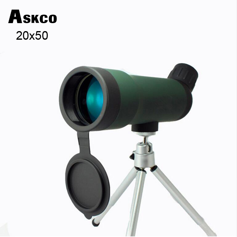 Hot selling 20x50 Zoom HD Monocular Outdoor Telescope kikare med bärbar Tripod Night Version Spotting Scope # SP01