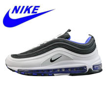 best website ab32b 957c5 Original Nike Air Max 97 OG hombres zapatos negro y blanco Verde ligera  antideslizante transpirable