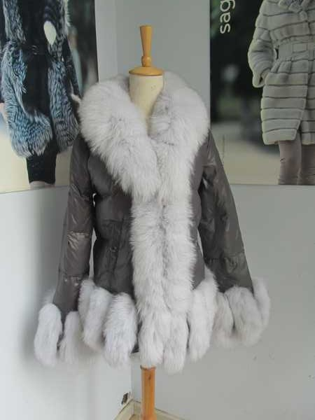 xhaketë e freskët e zonjës së dimrit të modës / parka popullore - Veshje për femra - Foto 2