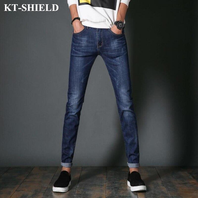 Skinny Jeans Men Designer Pants Trousers Masculina Vaqueros Fashion Full Length Denim Brand Clothing For