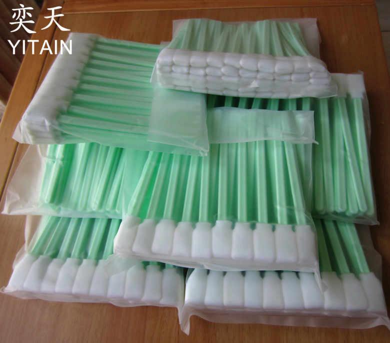 50 Pcs Batang Spons Swab untuk Epson Roland Mimaki Mutoh Semua Format Besar Solvent Pencetak Printhead Pembersih Swap Buds Busa