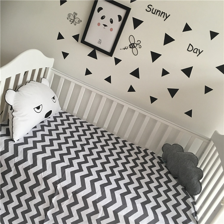 High quality Baby crib bed sheet 100% cotton 150x100cm Cute cartoon baby girls boys crib bedding set Bedspread brandream cute kids boys cars print quilted bedding set cartoon 100