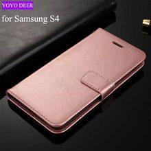 Для Samsung Galaxy S4 чехол люкс PU кожа задняя крышка телефона чехол для Samsung Galaxy S4 I9500 Чехол флип Защитная Кошелек Тип