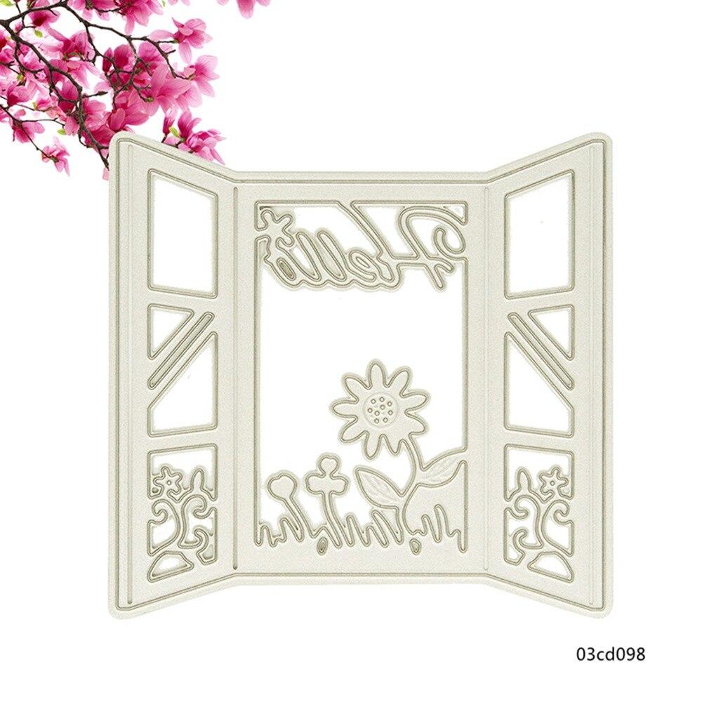 ᑐ1 unids metal papel decorativo Recortes de papel plantilla para ...