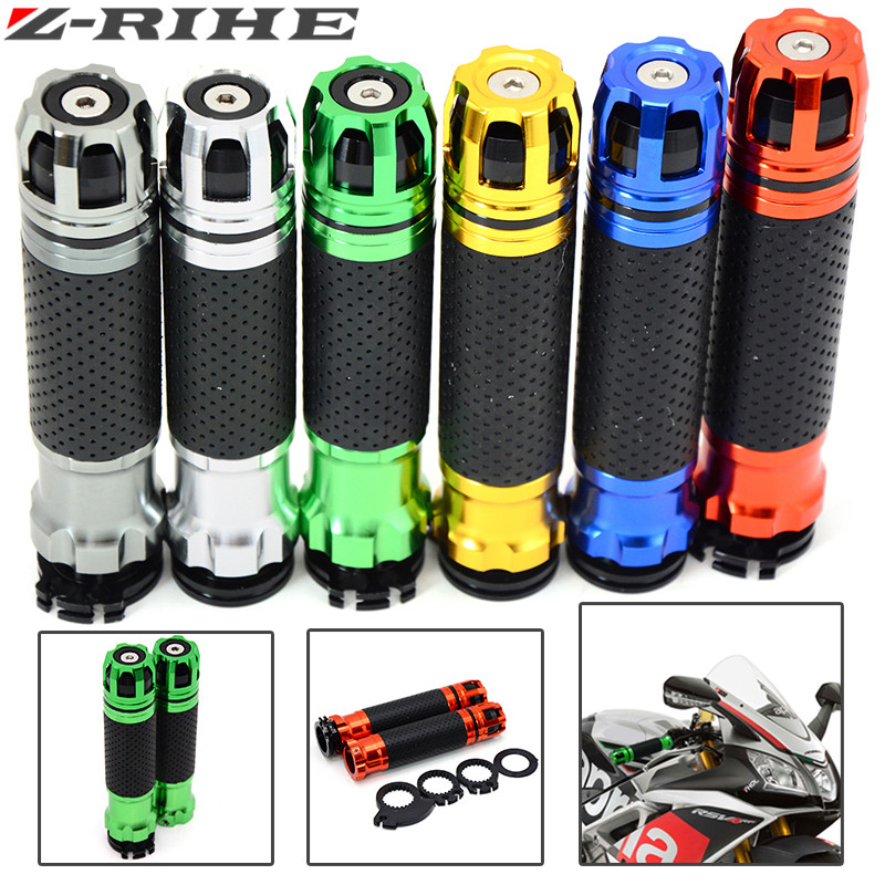 Universal 7/8'' 22MM Motorcycle CNC handle grips Motorbike handlebar grips and end for Suzuki GSX 650 F GSX R 600 SV 650 SV 1000 22mm 7 8 motorcycle cnc aluminum handlebar grips bar ends sliders for mv agusta f4 750 s f4 1000 rr suzuki gsf 600 bandit gsf