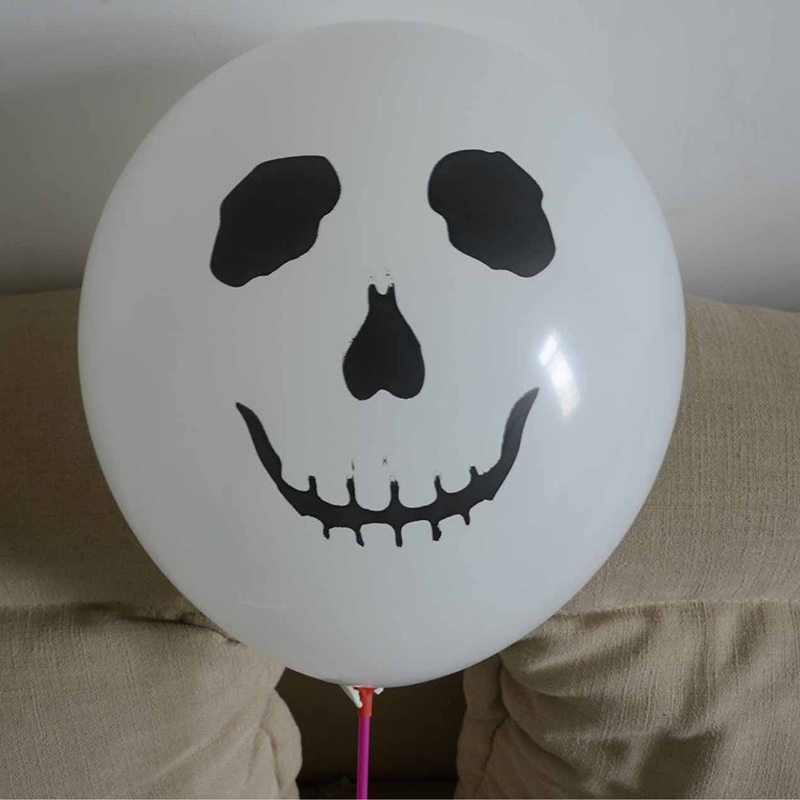 Skull Latex Balloons Halloween Pirate Air Pirates Theme Birthday Party Decoration Supplies 12inch 10pcs