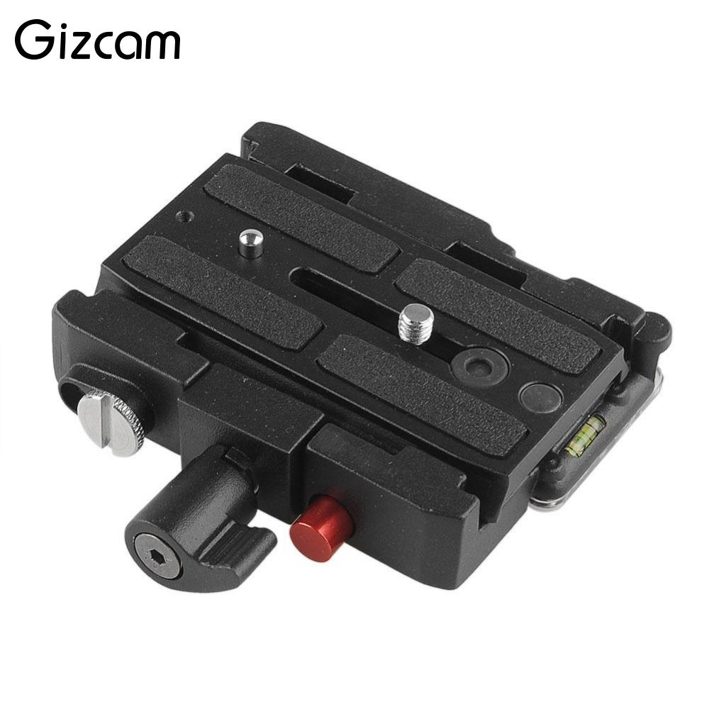 Gizcam 577 Rapid Connect Adapter Camera Quick Release Sliding Plate Compat Mounting QR Plate 501PL for Manfrotto HEAD 701HDV