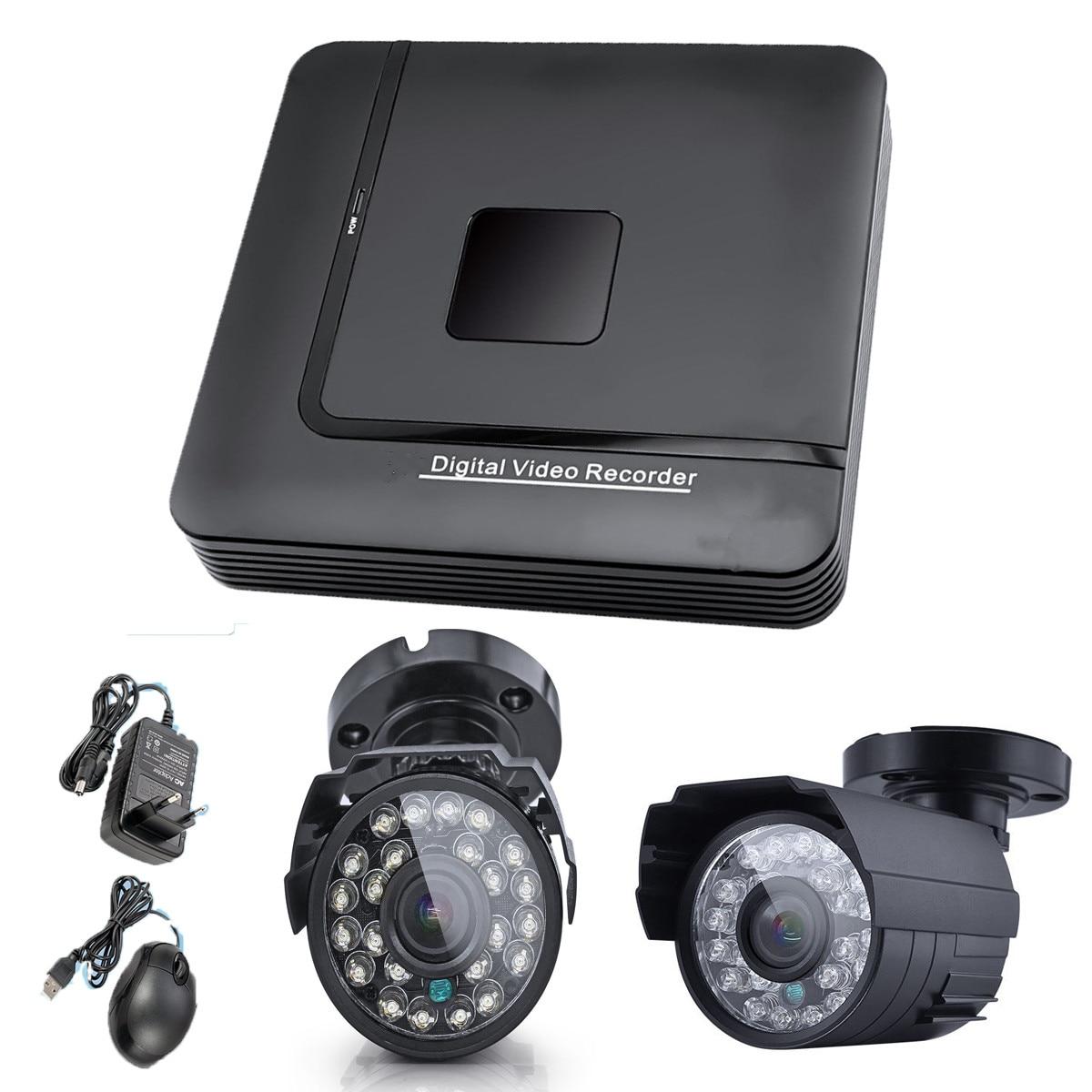bilder für NEUE 1 stücke 4CH DVR 2 stücke 1000TVL Digital Video Kamera Einfache Installation Sicherheitssystem Digital Video Recorder Videoüberwachung