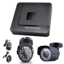 НОВЫЙ 1 шт. 4CH DVR 2 шт. 1000TVL Digital Video Camera Easy Installation Система Безопасности Цифровой Видеорегистратор Видеонаблюдения