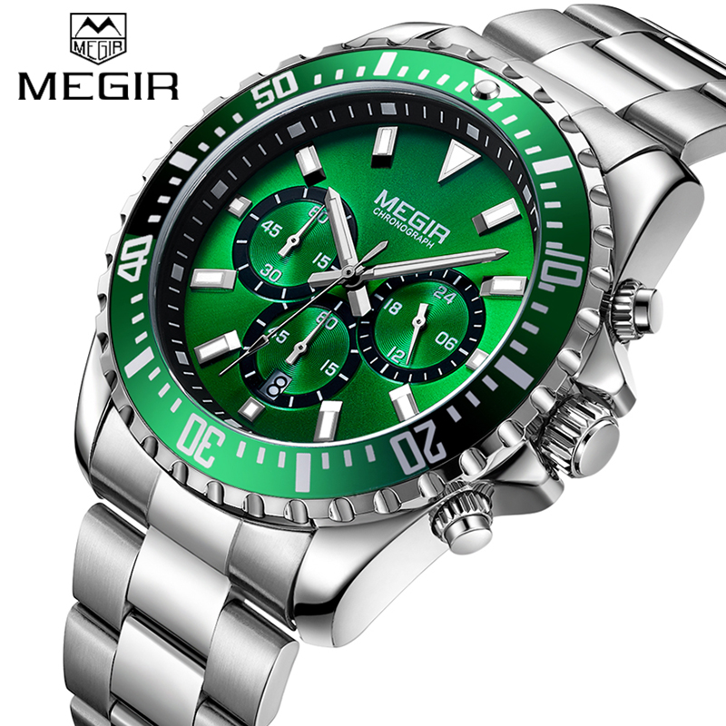 New Top Brand Mens Chronograph Analog Quartz Watch With Date Hands Waterproof Stainless Steel Wristswatch Man Relogio MasculinoNew Top Brand Mens Chronograph Analog Quartz Watch With Date Hands Waterproof Stainless Steel Wristswatch Man Relogio Masculino