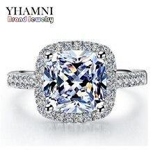 95% de DESCUENTO!!! embutido real 100% 925 anillos de plata esterlina al por mayor 3 carat sona simulación cz anillos de bodas para las mujeres gr001