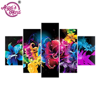 ANGEL S HAND Diy 5pcs Set Mosaic Full 5d Diamond Embroidery Beautiful Butterfly 3d Diamond Painting