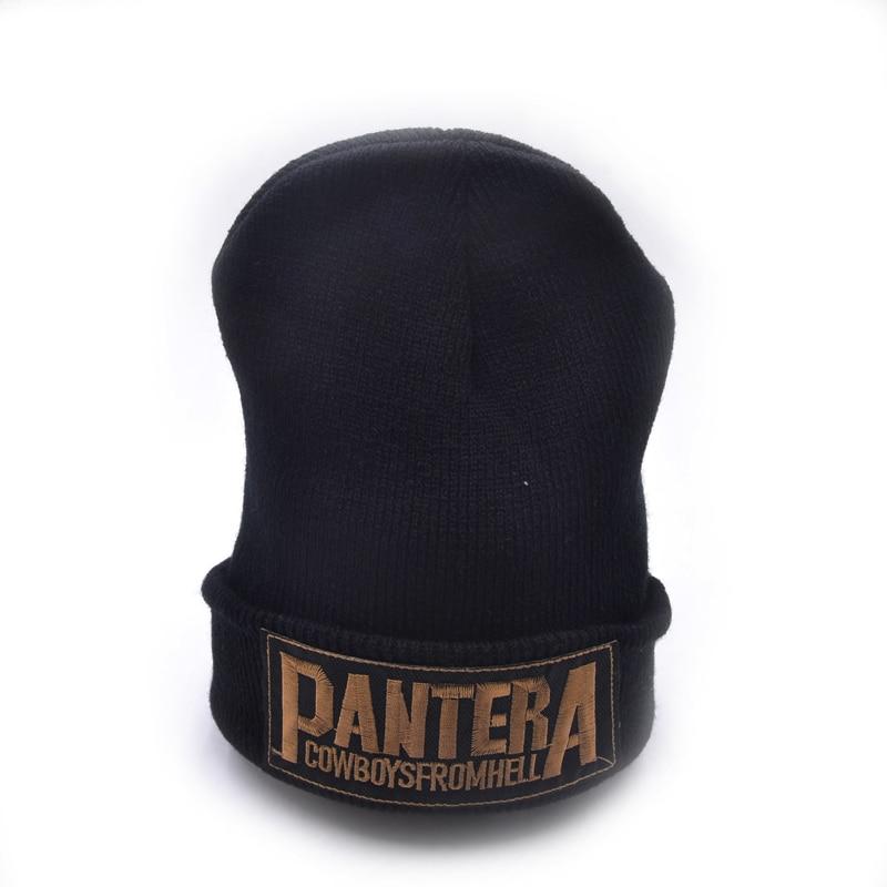 pantera band Winter Hats Hat Female Unisex Plain Warm Soft Women's Skullies Beanies Knitted Touca Gorro Caps For Men Women