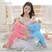 60cm Cute Stuffed Animal Baby Dolls Kawaii Cartoon Unicorn Plush Toys Children Baby Birthday Gift