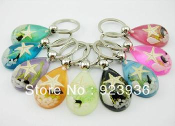 WHOLESALE 36PCS LOVEY SEA STAR UNISEX TRENDY MIX STYLE KEY-RINGS  FREE SHIPPING