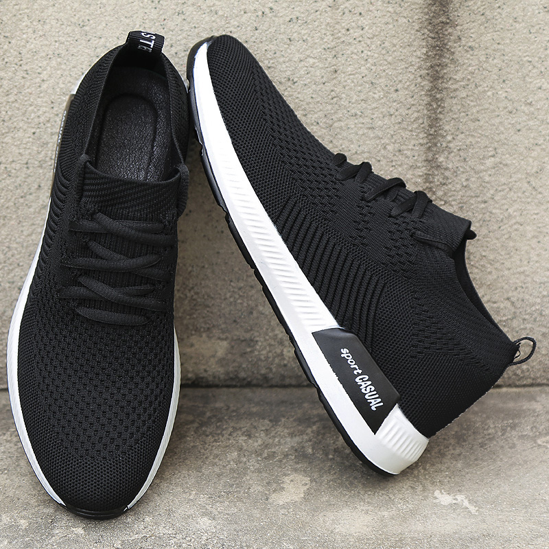 2018 Hommes Casual Chaussures Respirant Chaussures Hommes Masculino Tissé Chaussures Hombre Sneakers Hommes Chaussettes Chaussures Formateurs Pour Hommes Appartements