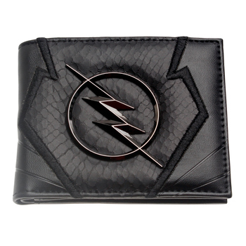 Flash wallet Black embroidery Metal badge Wallet Heroes vs Villains Bi-Fold Men Wallet Women Purse DFT-2044