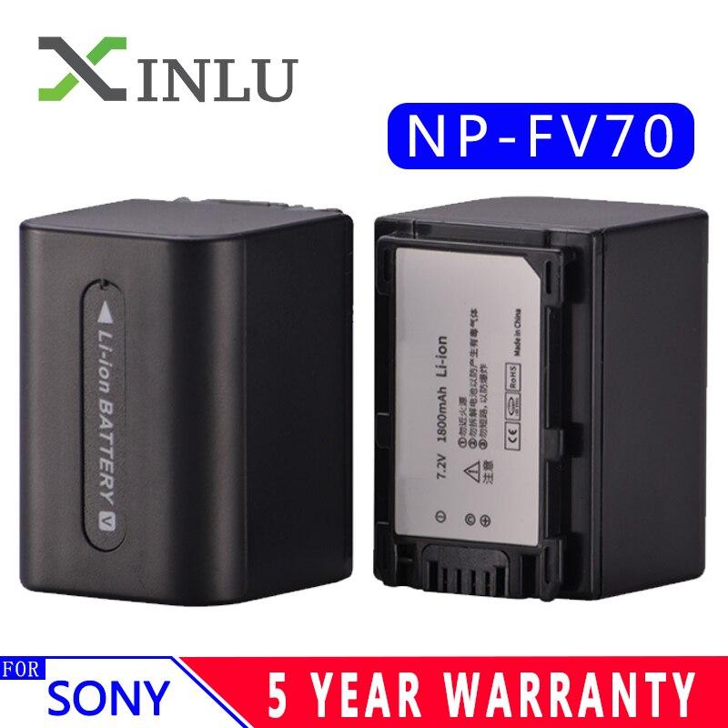 1800 mah NP-FV70 NP FV70 NPFV70 batteries & LCD USB Chargeur pour Sony NP-FV50 FV30 HDR-CX230 HDR-CX150E HDR-CX170 CX300 Z1 bateau libre