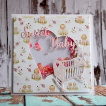 Sweet Baby Crib Dies Metal Cutting Stencil for DIY Scrapbooking album Decorative Embossing Craft Cut Paper Cards Tool