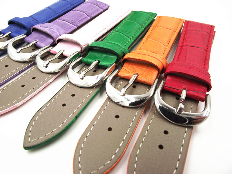 1PCS 12MM,14MM,16MM,18MM,19MM,20MM,22MM High quality genuine leather watch band wrist watch strap 6 color available-WBGL009 цена