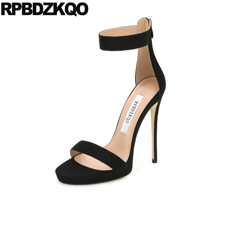 Open Toe Stiletto Sexy High Heels Fetish Black Designer Sandals Women  Luxury 2018 Pumps Shoes Satin Genuine Leather Ankle Strap 0f3e9498a248