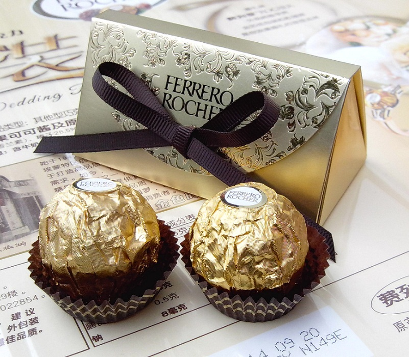 Free Shipping Party Wedding Ferrero Rocher Gift Favors Box