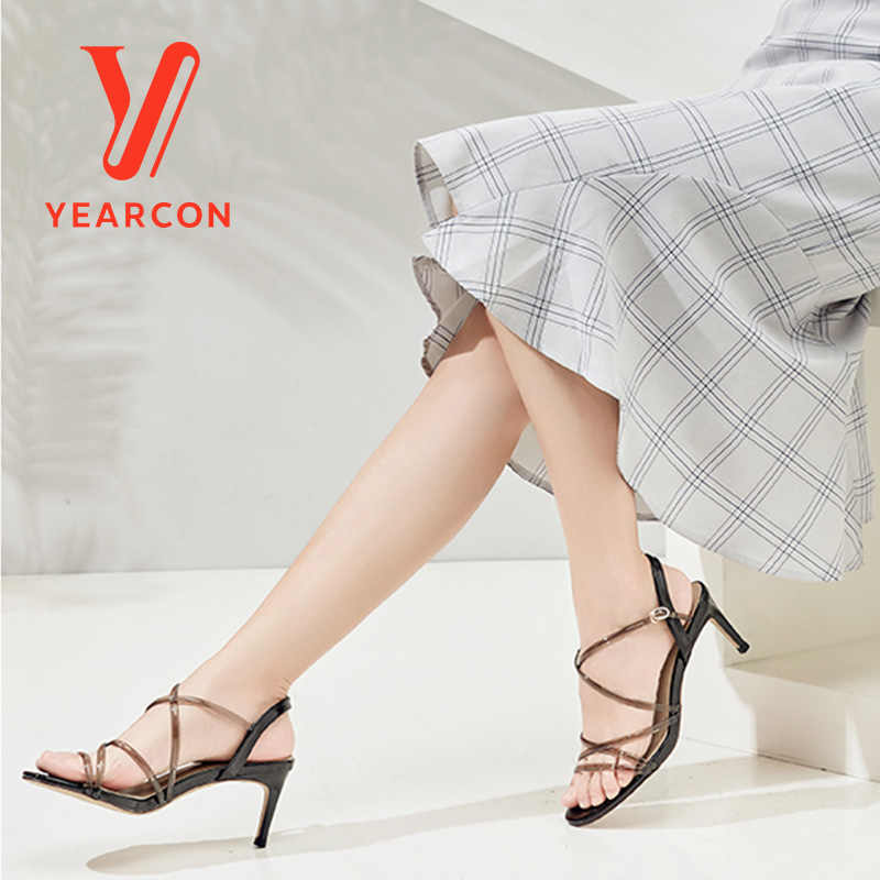 YEARCON 2019 新レディースサンダル夏のファッションハイヒールカジュアルシューズ 9351DL26115W 9451ZL29937W