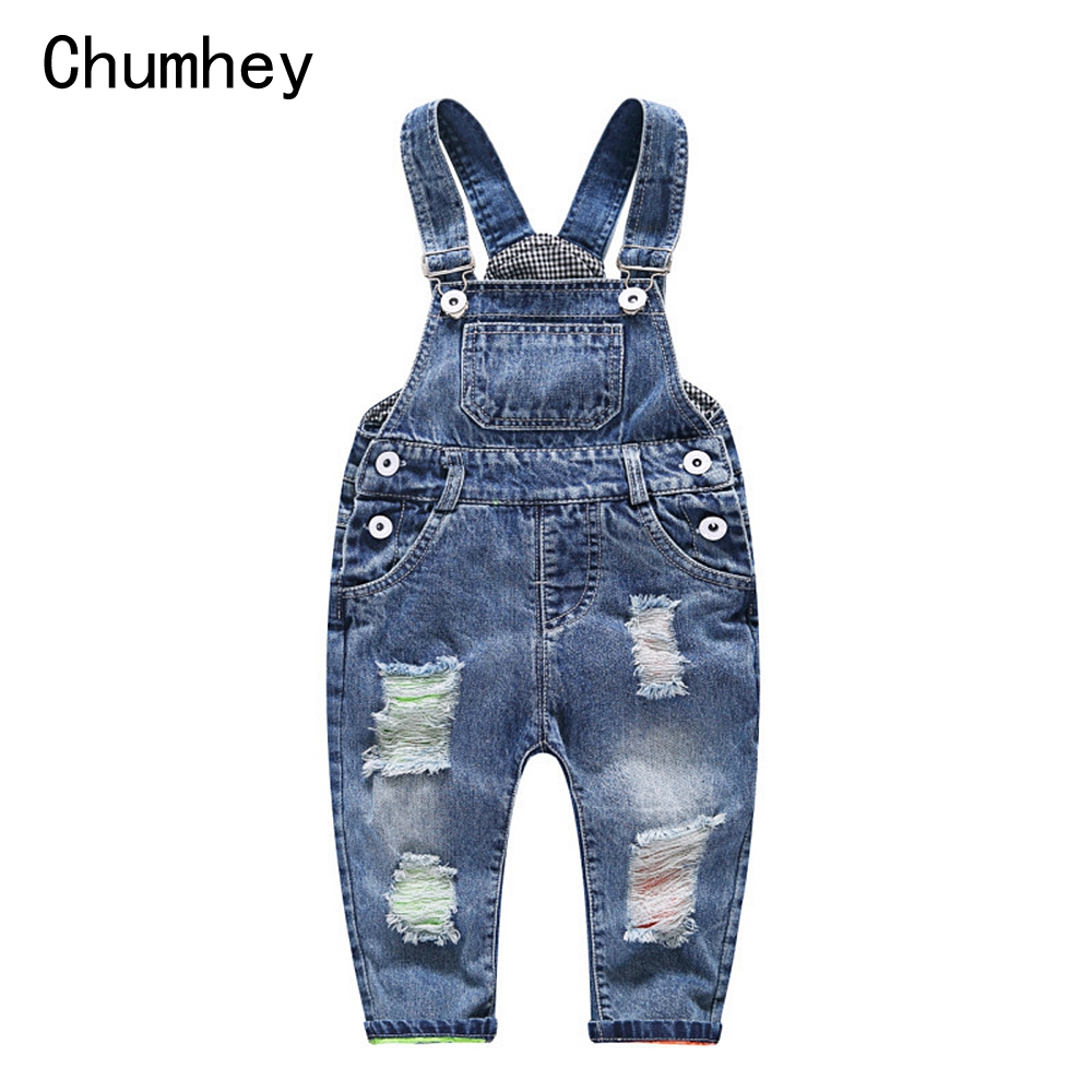 1-5T Baby   Rompers   Spring Boys Girls Jeans Overalls Babe Jumpsuit Infant Pants Toddler Trousers Kids Clothes Children Clothing