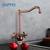 Gappo Antique Luxury Kitchen Sink Drinking Water Tall Faucet Filter Taps Single Lever Tap Cold Hot